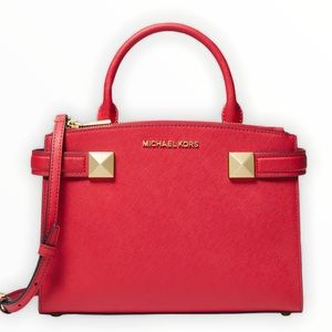 Michael Michael Kors Medium Karla EW Red Satchel